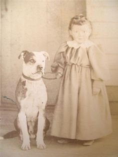 I love the old pictures of pits and kids before societies image of pitbulls was ruined by believing everything media tells them. And before bad owners got a hold of the breed and had no idea how to train them they were just cool to have