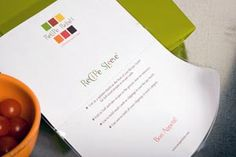 Recipe Sleeves - a great way to contain little clippings and recipe cards.