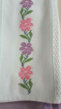 The most beautiful cross-stitch pattern - Knitting, Crochet Love Cross Stitch Letters, Cross Stitch Borders, Cross Stitch Rose, Cross Stitch Samplers, Cross Stitch Flowers, Modern Cross Stitch, Cross Stitch Charts, Cross Stitch Designs, Cross Stitching