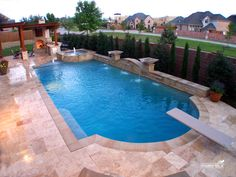 Formal / Geometric Pool Formal / Geometric Pool by Southernwind Pools Share Photo by Southernwind Pools Inground Pool Designs, Swimming Pool Designs, Backyard Pool Landscaping, Backyard Pool Designs, Swimming Pools Backyard, Lap Pools, Pool Spa, My Pool, Living Pool