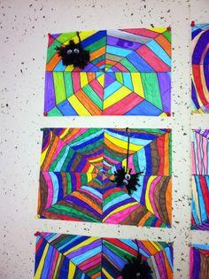 Regenboog spinnenweb: