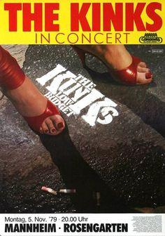 The Kinks - Low Budget 1979 - Poster Plakat Konzertposter