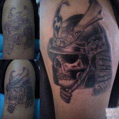 Samurai tattoo skull