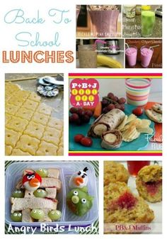Great ideas for school lunches.