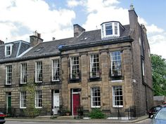 Georgian architecture, Saxe Coburg Place, Edinburgh by Paul McClure DC. Georgian Architecture, Beautiful Architecture, Industrial Architecture, Classic Architecture, Townhouse Exterior, Georgian Homes, Grand Homes, Historic Homes, House Colors