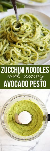 ZUCCHíNí NOODLES WíTH CREáMY áVOCáDO PESTO | Healthy Recipe Kitchen