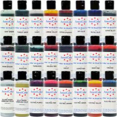 Air Brush 12 Color Kit- 4.5 ounce- Americolor Air Brush Colors ...
