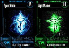 Ingress HUD Badges Resistance and Enlightened