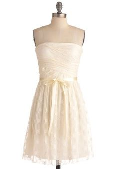 3a5be71bab4 Coconut Cream Pie Dress from ModCloth. Perfect for your reception dress or  going away outfit. I wish I saw more dress changes in weddings.