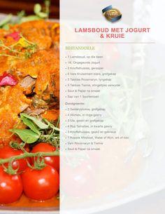 Lamsboud DEEL 1 South African Recipes, Kos, Food And Drink, Beef, Meals, Fruit, Vegetables, Desserts, Meat