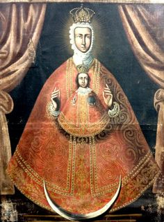 A 17th century painting of Our Lady of Guadalupe in Extremadura, Spain.