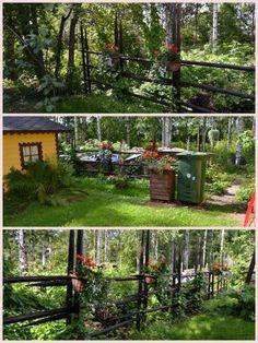 Heinäseiväsaita takapihalla