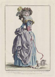 Gallerie des Modes et Costumes Français, 1786, eee 312: La minaudiere Marinette..., Pierre Charles Baquoy, Esnauts