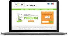 11 Laws of LikabilityThe 11 Laws of Likability Custom WordPress Design + Development  http://www.11lawsoflikability.com/