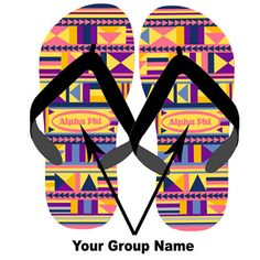 Sorority Tribal Print Flip-Flops $17.95