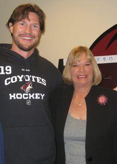 Coyotes Captain Shane Doan with my friend Joyce Clark.