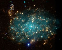Detail: Black Hole Blows Big Bubble (NASA, Chandra, 07/12/10)