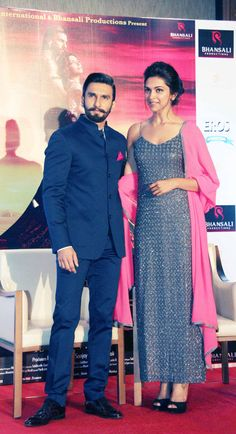 Ranveer Singh and Deepika Padukone promote Ram Leela in Delhi Wedding Dresses Men Indian, Wedding Dress Men, Wedding Suits, Bollywood Fashion, Bollywood Actors, Indian Groom Wear, Mens Kurta Designs, Designer Suits For Men, Indian Men Fashion