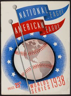 1938 World Series Program (unscored) - New York Yankees Vs. The pinstripers took on the Chicago Cubs for - Available at Sunday Internet Sports. Chicago Cubs Fans, Cubs Win, Go Cubs Go, Baseball Art, Baseball Pictures, Baseball Equipment, Wrigley Field, Concert Posters, Sports
