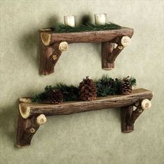 Wood Logs Shelves-13 DIY Wood Log Projects | DIY to Make