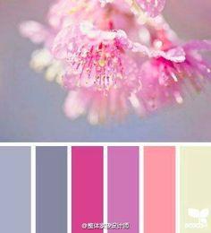 Flower color palette Sakura