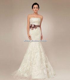 Custom Wedding dress, Vintage  lace wedding gown,  Bridal Gown, CUSTOM