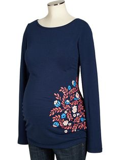 Old Navy | Maternity Floral-Graphic Long-Sleeve Tees