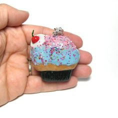 Cupcake Locket Necklace Pendant Jewellery  by DevilishDesigns, $40.00