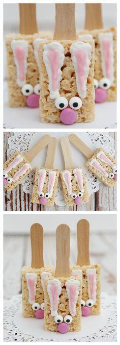 Bunny Rice Krispie Treats | Easter Treat Ideas