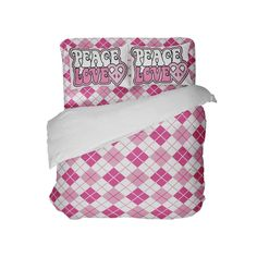 Super fresh preppy pink argyle bedding set is super comfy, premium quality, crafted in USA & Eco friendly! Our top of the line and made in USA microsuede f Preppy Bedding, Comforter Sets, Peace And Love, Comforters, Bed Pillows, Pillow Cases, Comfy, Pink, Furniture