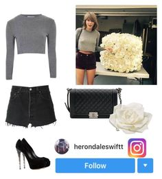 """Instagram Inspired Look 8"" by tsoutfits ❤ liked on Polyvore featuring Glamorous, RE/DONE, Casadei, Chanel and Allstate Floral"
