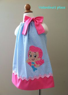 Adorable Bubble Guppies Molly pillowcase dress by Valentinasplace