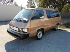 1985 Toyota Van--mine was white with a blue stripe--one of the best engineered vans ever.