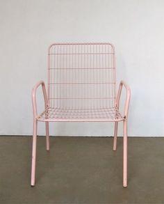 Beautiful light pink chair. http://sandraisdreamingabout.tumblr.com