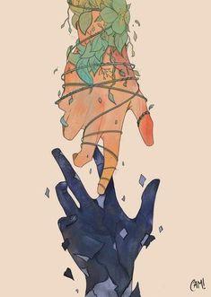 Fan Art et Oeuvres Originales : Archives Inspiration Art, Art Inspo, Character Inspiration, Fantasy Kunst, Fantasy Art, Anime Hand, Art Sketches, Art Drawings, Character Illustration