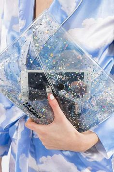 Glitter Gel Clutch Bag by Jaded London