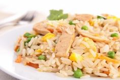 Eat Better, Spend Less: Chicken Fried Rice | Stretcher.com -  Chicken and rice leftovers from yesterday's dinner make cooking up this delicious, simple dish a snap.