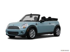 2012 convertible mini cooper.  Just love that blue.