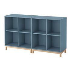 EKET combinazione di mobili con gambe, azzurro Lunghezza: 70 cm Larghezza: 140 cm Profondità: 35 cm