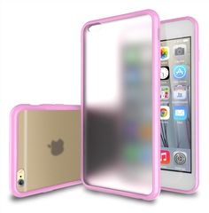 iPhone 6 Plus Case - TekSonic® [Candy Series] iPhone 6 Plus Case (5.5) Frosted Clear/Light-Pink Hybrid Back Cover Case with New Vibrant TPU Color Border for iPhone 6 Plus (5.5 inch) (Baby Pink). Compatible with Apple iPhone 6S Plus (2015) & iPhone 6 Plus (2014) - Verizon, AT&T, T-Mobile, Sprint, Unlocked & International models. High quality Anti-Scratch coating Matte Frosted Clear back cover with Vibrant Baby Pink Color Bumper Border. TPU polycarbonate protective shock absorbent bumper....