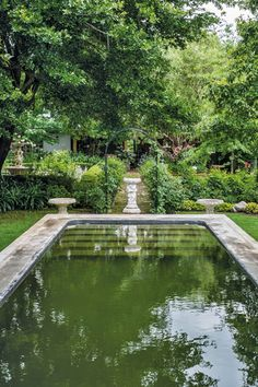 Create a French garden - water features become focal points. This could be a natural swimming pool, - do I see stairs at the end?