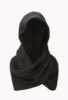 Fireside Hooded Scarf | FOREVER21 -Keepin' it hood #InfinityScarf #Hood #Knit