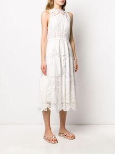 Check out Zimmermann with over 4 items in stock. Shop Zimmermann embroidered floral flared dress today with fast Australia delivery and free returns. Bride Flowers, Scalloped Hem, Flower Dresses, Mid Length, Flare Dress, Women Wear, White Dress, Floral, Cotton