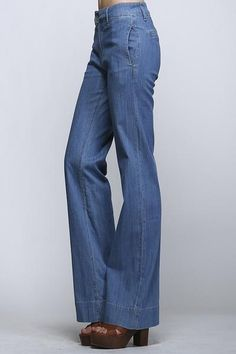 Wide leg with pockets Mina's Denim Trouser – all the pretty little things boutique now $41!!