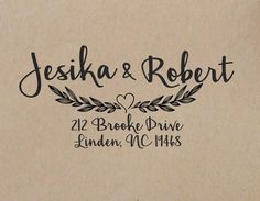 Wedding Stamp Custom Rubber Self Inking Return Address And Weddings