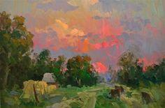 Por amor al arte: Gregory Packard Paintings I Love, Beautiful Paintings, Abstract Landscape, Landscape Paintings, Clay Art Projects, Seascape Art, Impressionist Paintings, Art Plastique, Ciel