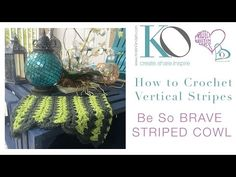 How to Crochet Vertical Stripe Cowl Brave - YouTube