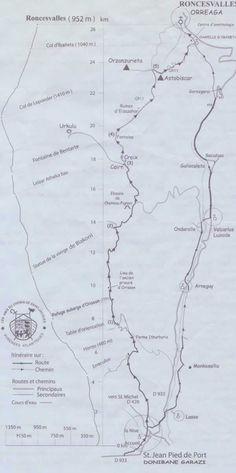 Camino primitivo map from oviedo to santiagodec mapas del camino maps of the camino - St jean pied de port to roncesvalles ...