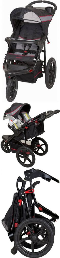 baby and kid stuff: Baby Trend Expedition Infant Jogger Stroller Millennium All-Terrain 3 Wheels BUY IT NOW ONLY: $71.34