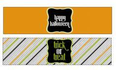 Free Halloween Printables: Water Bottle Labels